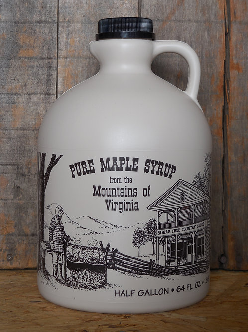 "Pure Maple Syrup(Grade ""A"" Golden Delicate) - Half Gallon"