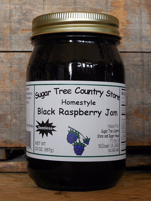 Homestyle Seedless Black Raspberry Jam - Pint
