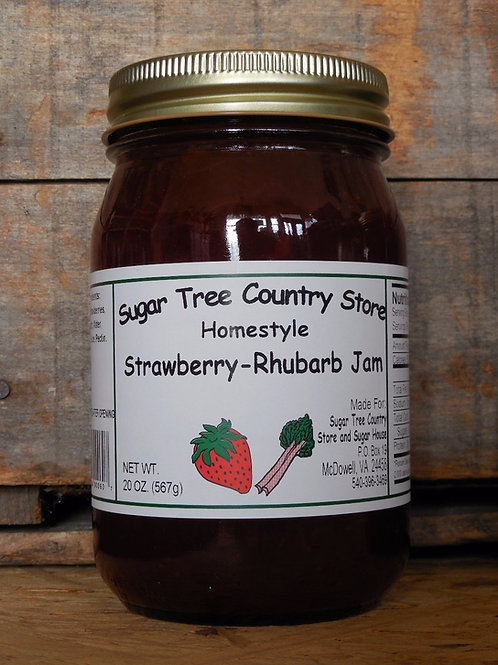 Homestyle Strawberry Rhubarb Jam - Pint