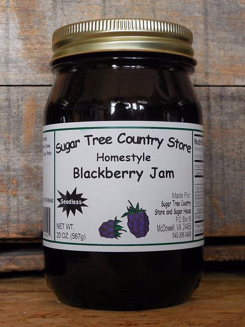 Homestyle Seedless Blackberry Jam - Pint