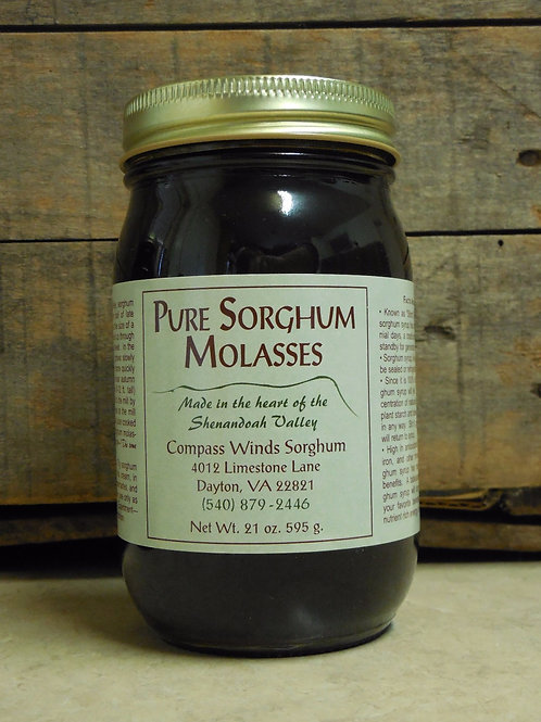 Pure Sorghum Molasses-Pint