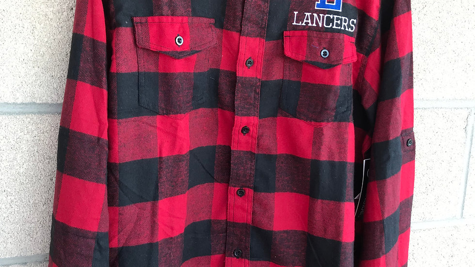 Men's Red and Black Flannel