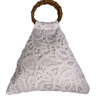 Tasche gestrickt weiß - Caterina Bertini - Art. 4479