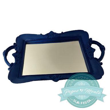 Bandeja de resina  retangular com espelho