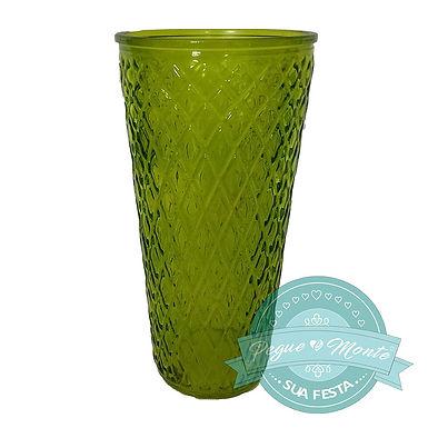 Vaso de Vidro Cor 29cm