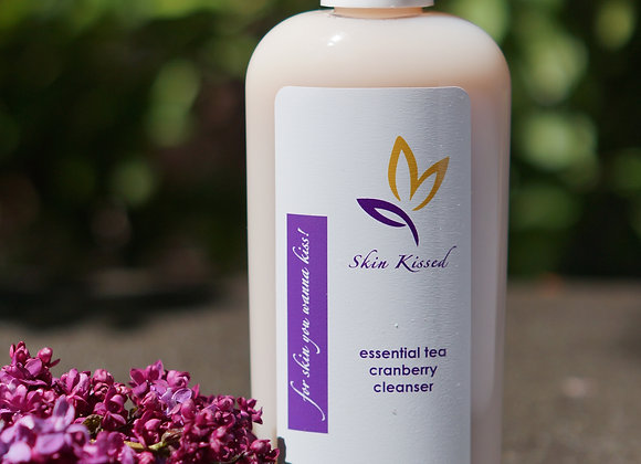 Skin Kissed Essential Tea Cranberry Cleanser 8 oz.