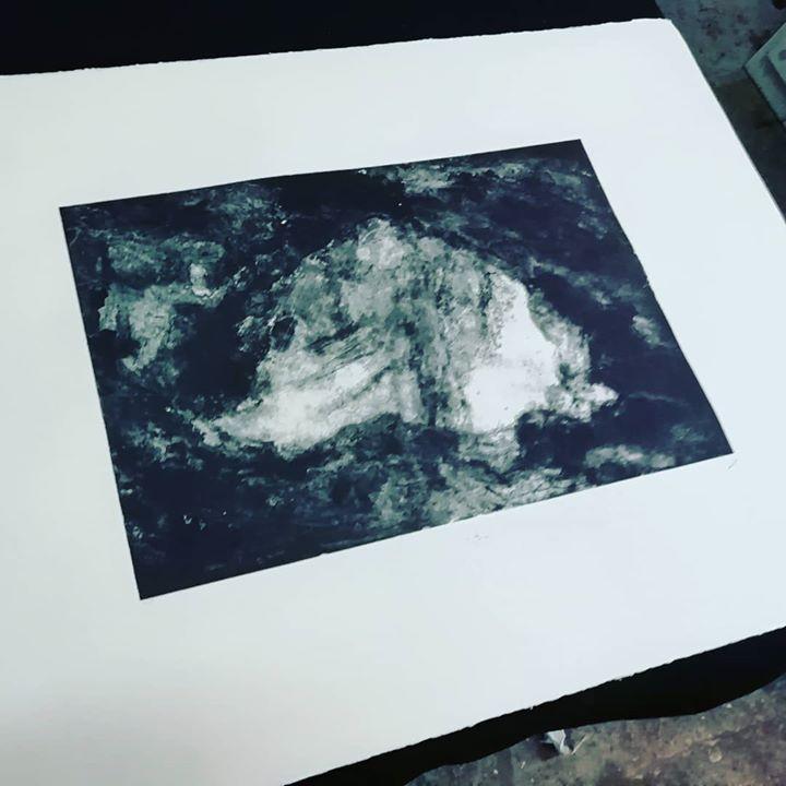 Lithographie.2 ex. 50X35. Favriano 285g.