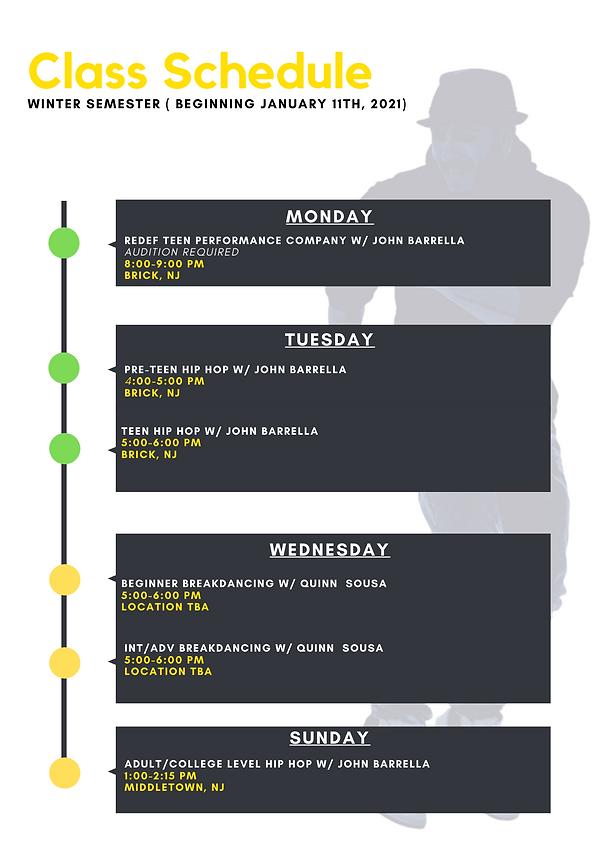 Red Black Modern Timeline Project Schedu