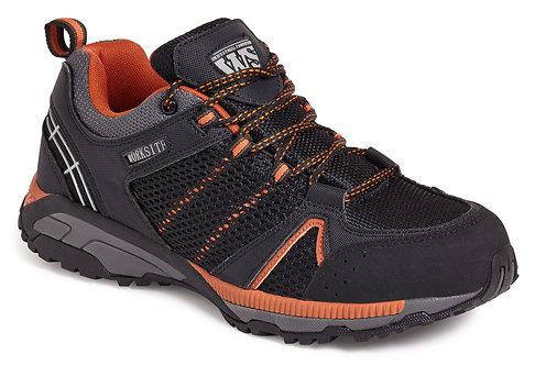 Black/Orange Sports Safety Trainer