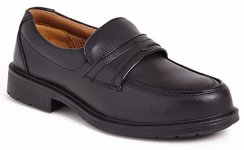 Black Casual Slip On Safety Shoe