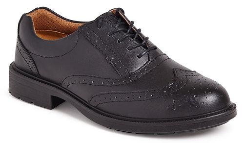 Black Brogue Safety Shoe