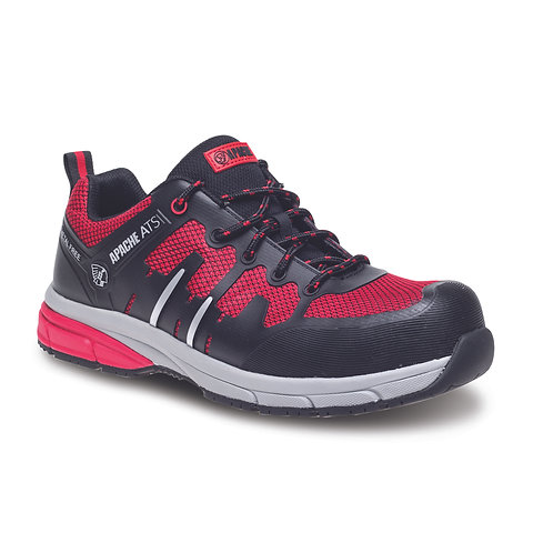 Red/Black Metal Free Sports Safety Trainer