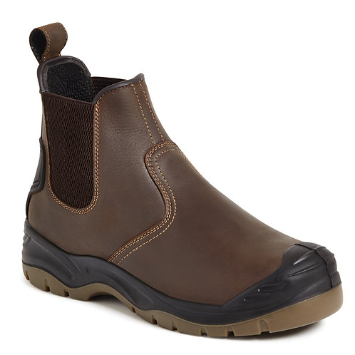 Brown Safety Dealer Boot