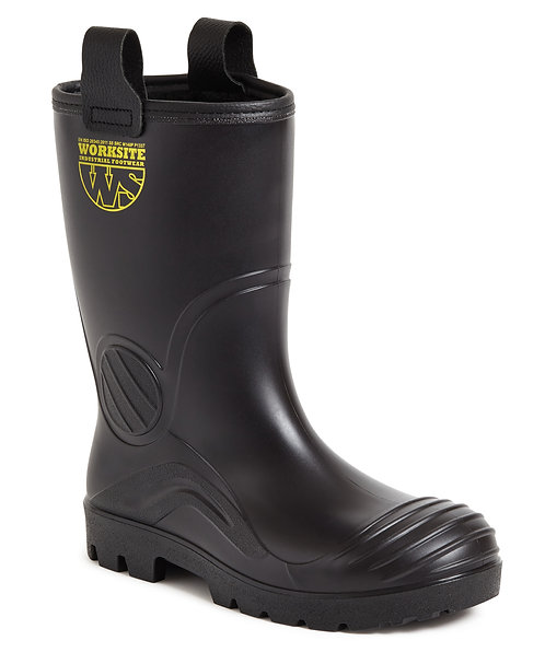 Black PVC Rigger boot