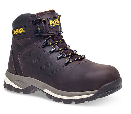 "Brown nubuck 6"" safety hiker"