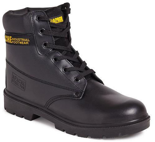 Black 6 Eye Safety Boot