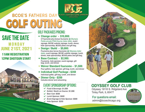 Fathers Day Golf Flyer sponsorships June