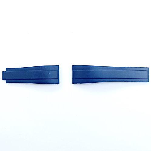 Gummi Rakt 40mm Blå