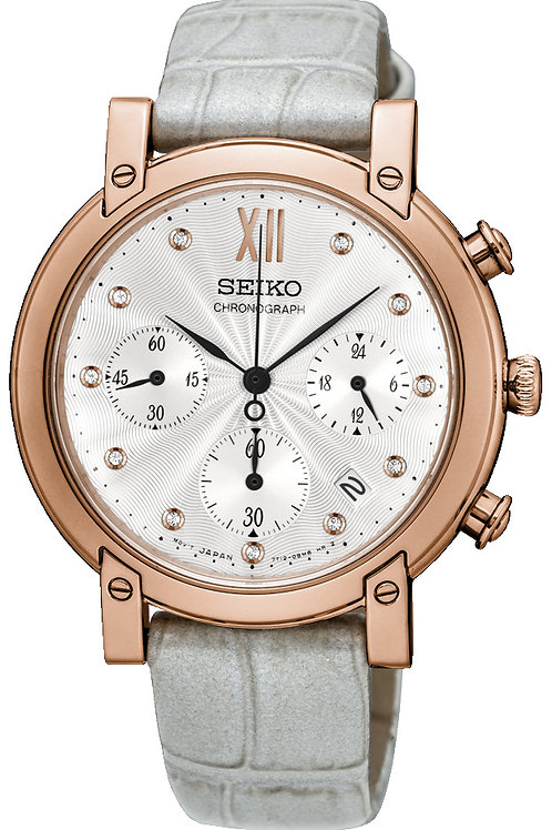 SEIKO LADIES 36MM 50M SAFIR 11 DIA.CHRONOGRAPH