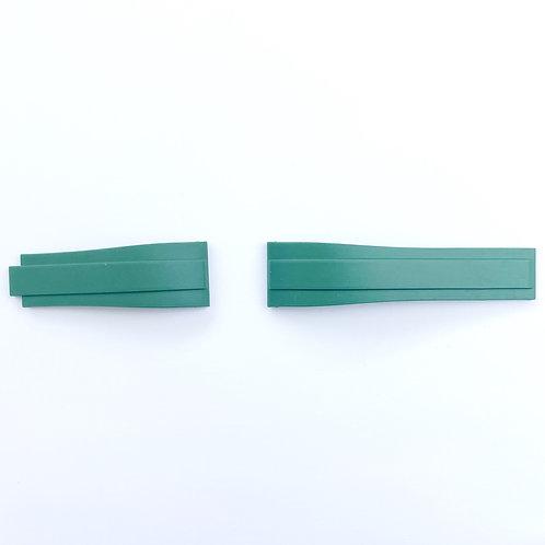 Gummi Rakt 40mm Grön