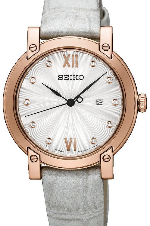 SEIKO LADIES 31MM SAFIR 50M 10 DIAMONDS
