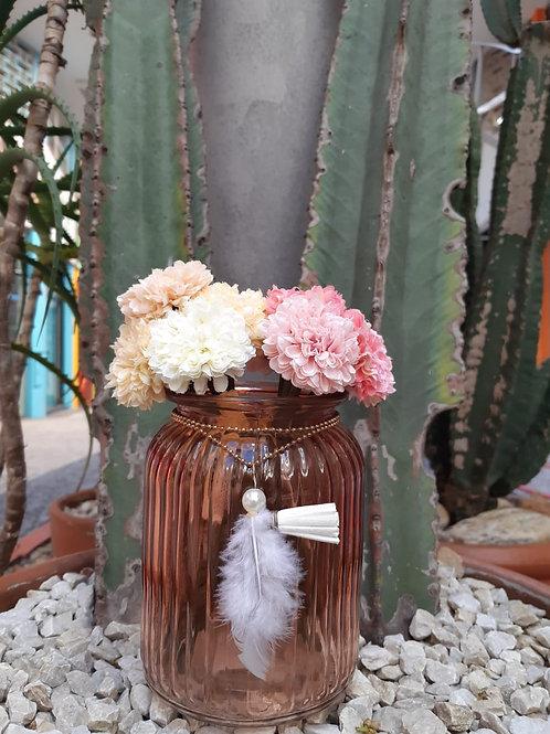 Pote de vidro décor dream filter buds rosa