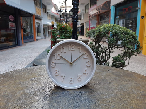 Relógio despertador fino bege