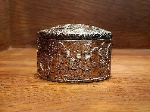 Porta jóias egípcio redondo