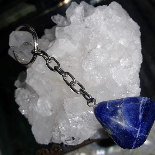 Chaveiro ágata azul