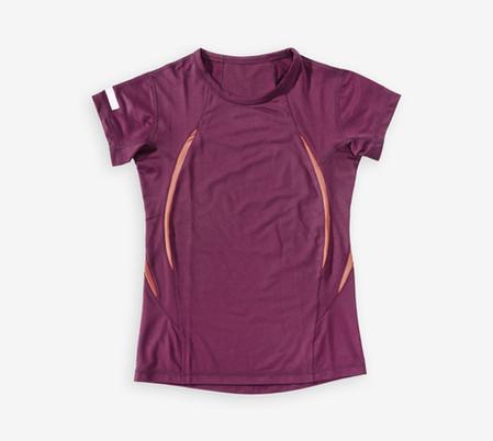 パープルスポーツシャツ
