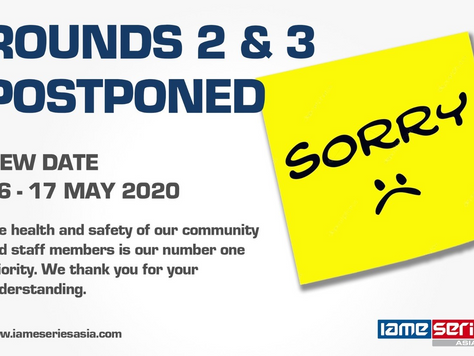 IAME Series Asia 2020 - Rounds 2 & 3 Postponed