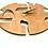 "Thumbnail: Modern Hebrew Letter Wall Clock SILENT Cherry wood - 11"""