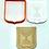 "Thumbnail: Emblem/Crest of Israel w/Menorah Cookie/Fondant Cutter, 2pc SET - 3.5"""