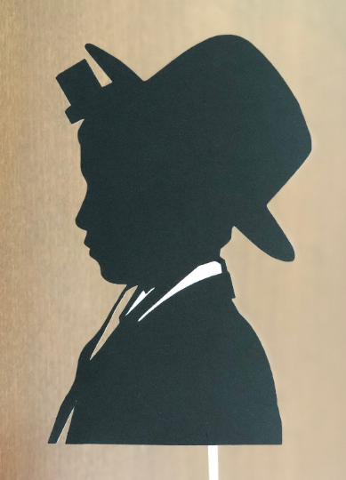 """Bar Mitzvah Boy with Tefillin Cake Topper - 5.2""""w X  7.7""""h with black hat"""