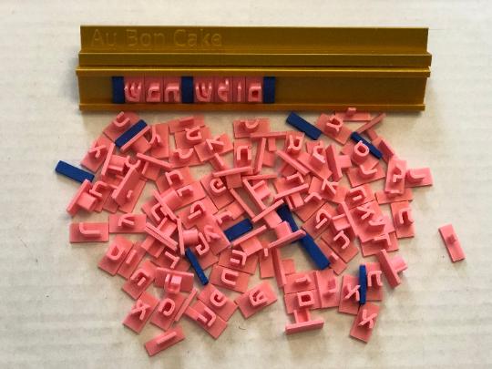 Hebrew Stamp SET 100 Letters, 1 holder, 8-11mm BLOCK font