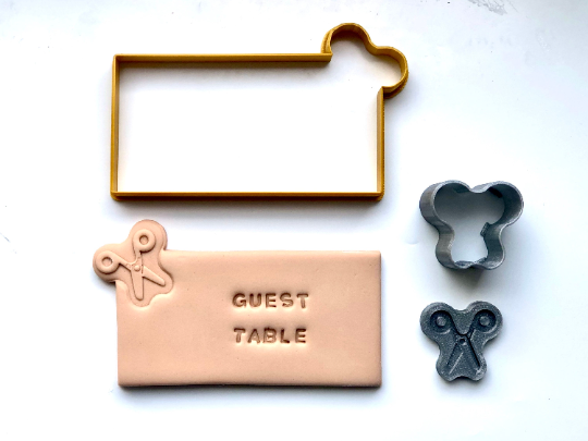 Place Card Cookies - Upsherin Scissors with Fondant Embosser 3pc set