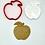 "Thumbnail: Apple with Honey, Rosh Hashanah, Cookie Cutter Fondant Embosser - 3"""