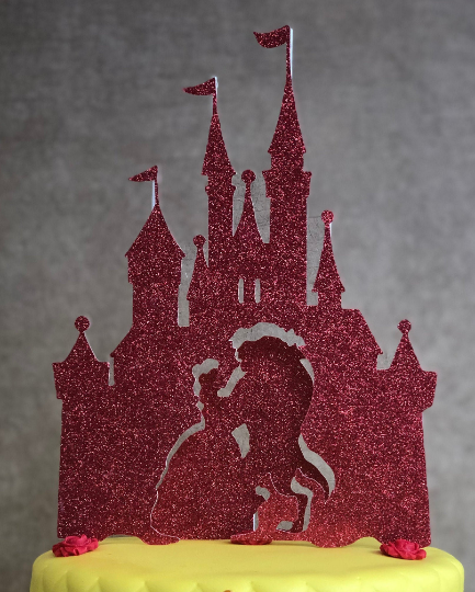 Beauty and the Beast, Belle Dancing Castle Cake Topper