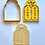 Thumbnail: Jewish Torah Tablets Luchot Hebrew Cookie Cutter 2pc SET 4.25""