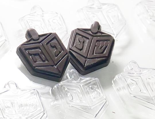 "Dreidel Chocolate Mold 12 Cavity each 2"""