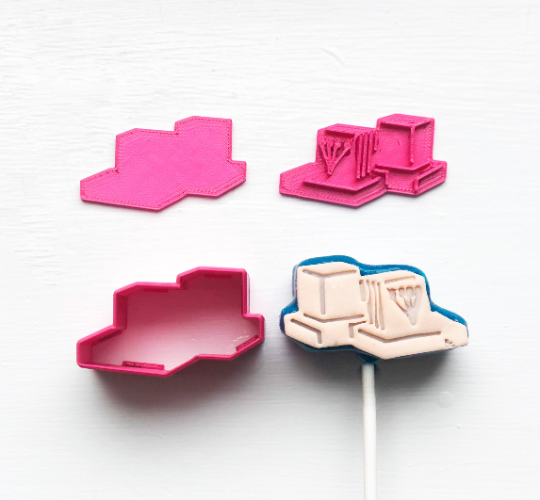Cake Pop Stamp Tefillin with Fondant Embosser 3pc set