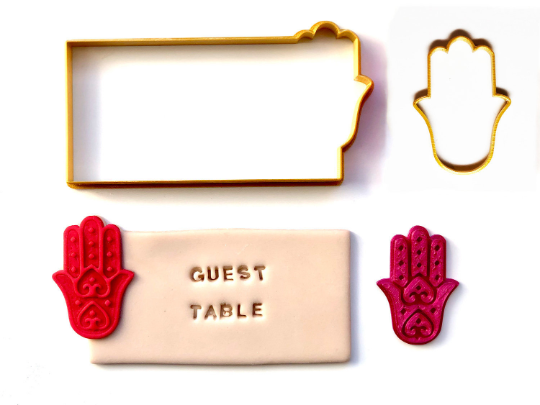 Place Card Cookies - Hamsa with Fondant Embosser 3pc set