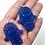 "Thumbnail: Earrings Hamsa sterling silver and  glitter acrylic 2"" - choose color"