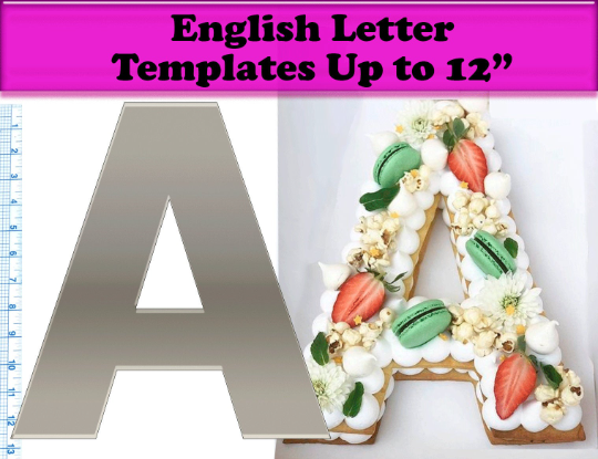 Letter/Number Acrylic Cake Templates for Number Cake / Cookie Cake / Letter Cake