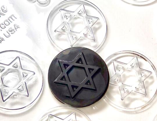 "Jewish Star of David Chocolate Mold 12 Cavity each 1-7/8"""