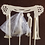 """Thumbnail: Chuppah Jewish Wedding Topper with Veil and Tzitzit Strings 5.5""""w"""