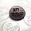 "Thumbnail: Chag Sameach Happy Holidays Chocolate Mold 12 Cavities each 1 7/8"" - Hebrew"