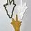 "Thumbnail: Lulav and Etrog, Sukkot Cookie Cutter Fondant Embosser - 4.7""H x 2.7""W"