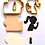 "Thumbnail: Shabbat Girl Silhouette Candles Jewish Cookie/Fondant Cutter 3pc SET 3.5"""