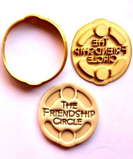 """Chabad Lubavitch  Friendship Circle Cookie Cutter 2pc SET 3"""""""